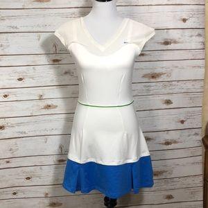 Nike Tennis Dress White and Blue - Medium